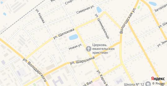 Новая улица в Данилове с номерами домов на карте. Спутник и схема онлайн