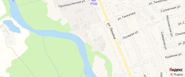 Строительный переулок на карте Тульского поселка Адыгеи с номерами домов