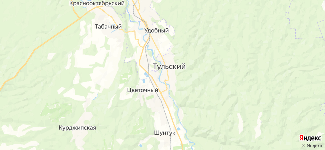 Тульский на карте