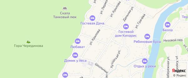 Грушовая улица на карте Каменномостского поселка Адыгеи с номерами домов