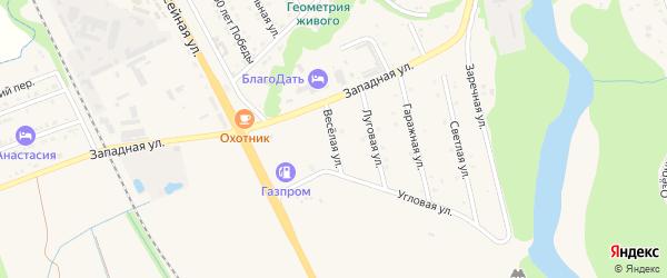 Веселая улица на карте Тульского поселка Адыгеи с номерами домов