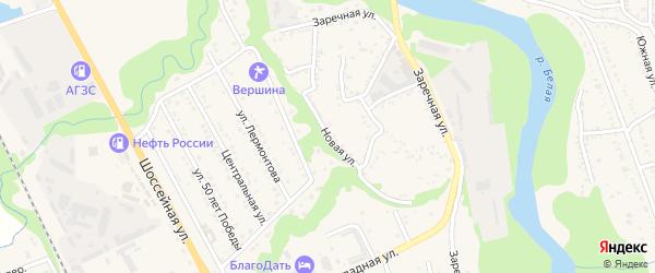 Новая улица на карте Тульского поселка Адыгеи с номерами домов