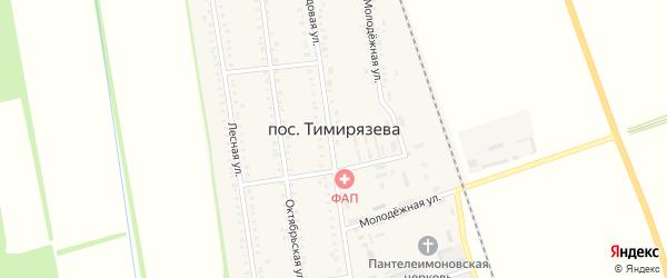Дорога А/Д Подъезд к п. Тимирязева на карте поселка Тимирязева с номерами домов