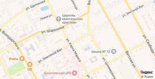 Улица Земляной Вал в Данилове с номерами домов на карте. Спутник и схема онлайн
