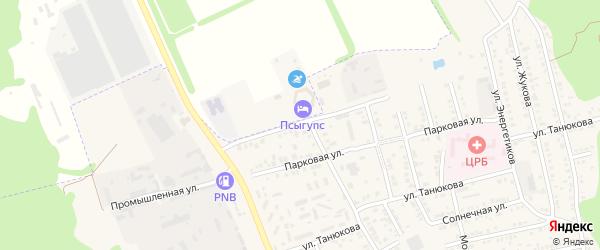 Пограничная улица на карте садового некоммерческого товарищества Авиатора Адыгеи с номерами домов
