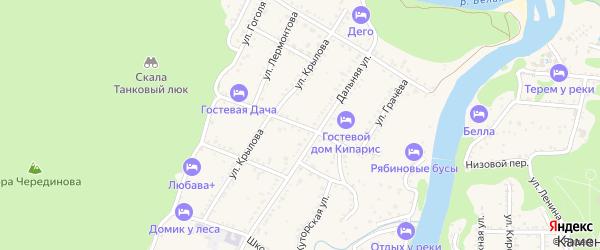 Улица Фурманова на карте Каменномостского поселка Адыгеи с номерами домов
