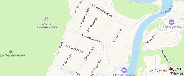 Улица Фурманова на карте Каменномостского поселка с номерами домов