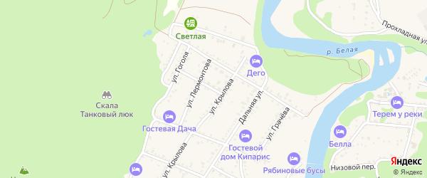 Улица Чапаева на карте Каменномостского поселка Адыгеи с номерами домов