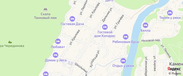 Дальняя улица на карте Каменномостского поселка Адыгеи с номерами домов