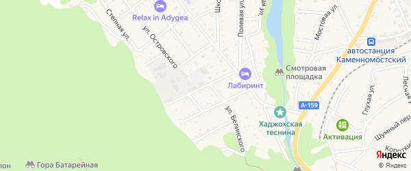 Улица Чернышевского на карте Каменномостского поселка Адыгеи с номерами домов