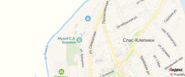 Улица Свердлова на карте Спаса-Клепики с номерами домов