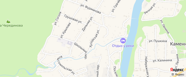 Хуторская улица на карте Каменномостского поселка Адыгеи с номерами домов