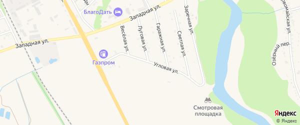 Угловая улица на карте Тульского поселка Адыгеи с номерами домов