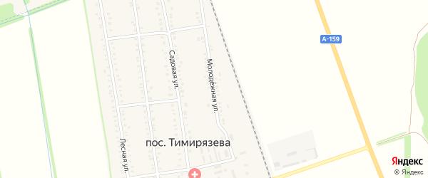 Молодежная улица на карте поселка Тимирязева с номерами домов