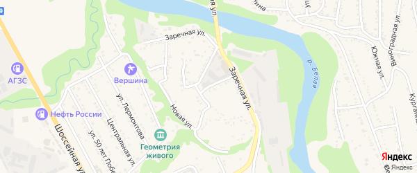 Заводская улица на карте Тульского поселка Адыгеи с номерами домов