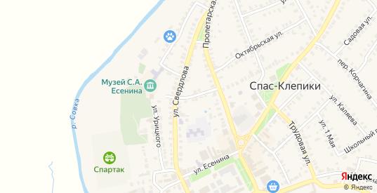 Пролетарский переулок в Спасе-Клепики с номерами домов на карте. Спутник и схема онлайн