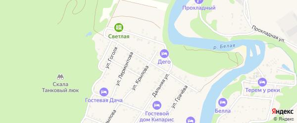 Улица Нечипуренко на карте Каменномостского поселка Адыгеи с номерами домов