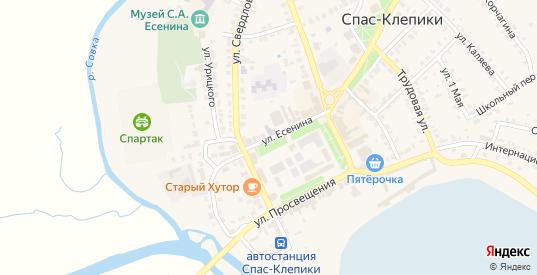 Улица Есенина в Спасе-Клепики с номерами домов на карте. Спутник и схема онлайн