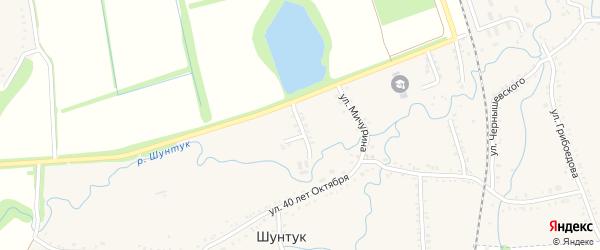 Заречная улица на карте хутора Шунтука Адыгеи с номерами домов
