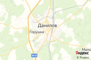 Карта г. Данилов Ярославская область