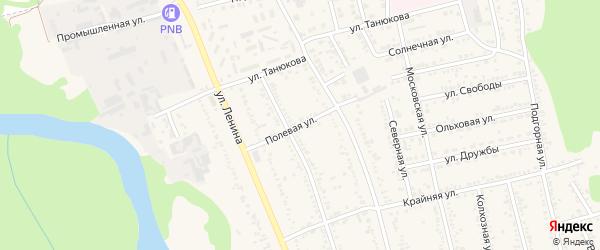 Полевая улица на карте Тульского поселка Адыгеи с номерами домов