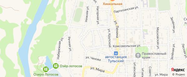 Улица Д.Бедного на карте Тульского поселка Адыгеи с номерами домов