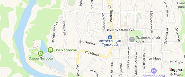 Улица Дижечко на карте Тульского поселка Адыгеи с номерами домов