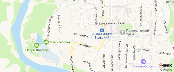 Улица Чехова на карте Тульского поселка Адыгеи с номерами домов