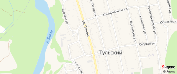 Улица Ленина на карте Тульского поселка Адыгеи с номерами домов