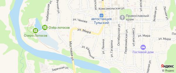 Родниковая улица на карте садового некоммерческого товарищества Авиатора Адыгеи с номерами домов