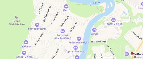 Улица Грачева на карте Каменномостского поселка Адыгеи с номерами домов