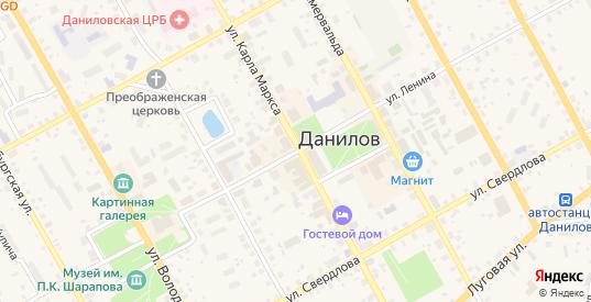 Улица Ленина в Данилове с номерами домов на карте. Спутник и схема онлайн