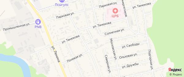 Северная улица на карте Тульского поселка Адыгеи с номерами домов