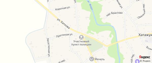 Улица А.Хаткова на карте аула Пшичо Адыгеи с номерами домов