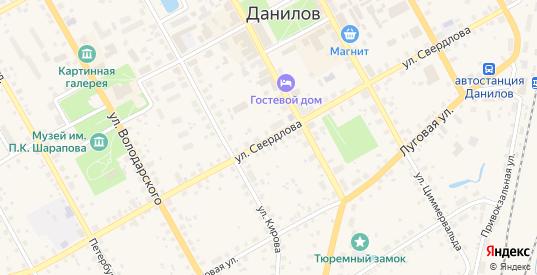 Улица Свердлова в Данилове с номерами домов на карте. Спутник и схема онлайн
