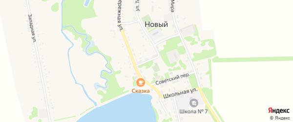 Почтовый переулок на карте Нового поселка Адыгеи с номерами домов
