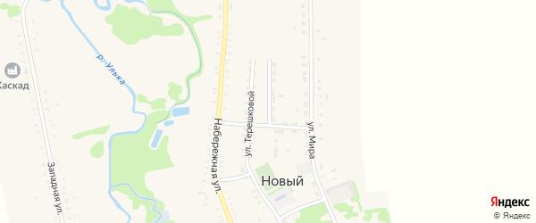 Комсомольский переулок на карте Нового поселка Адыгеи с номерами домов