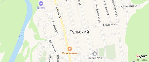 Улица Гагарина на карте Тульского поселка Адыгеи с номерами домов