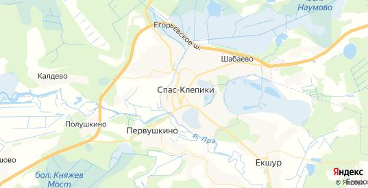 Карта Спаса-Клепики с улицами и домами подробная. Показать со спутника номера домов онлайн