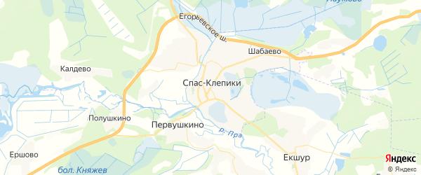 Карта Спаса-Клепики с районами, улицами и номерами домов