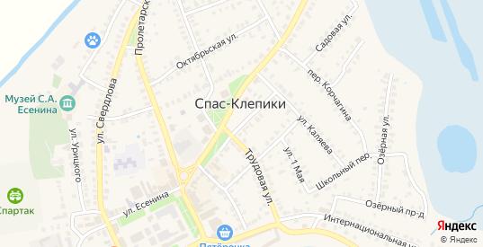 Площадь Ленина в Спасе-Клепики с номерами домов на карте. Спутник и схема онлайн