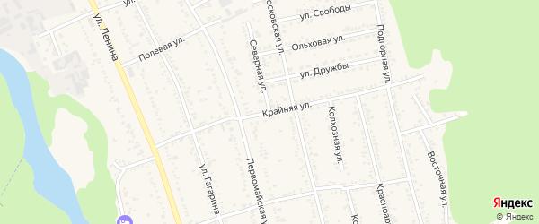 Крайняя улица на карте Тульского поселка Адыгеи с номерами домов