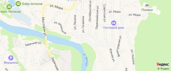 Улица Калинина на карте Тульского поселка Адыгеи с номерами домов