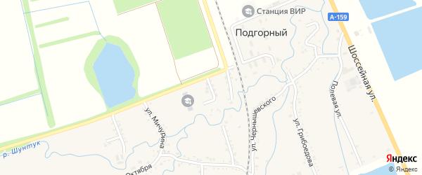 Школьный переулок на карте хутора Шунтука Адыгеи с номерами домов
