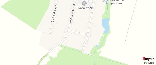 Молодежная улица на карте Пролетарского хутора Адыгеи с номерами домов