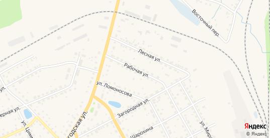 Рабочая улица в Данилове с номерами домов на карте. Спутник и схема онлайн