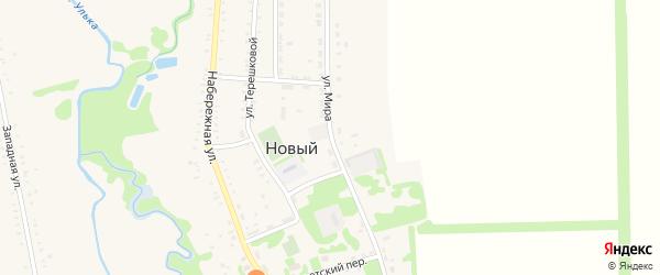 Улица Мира на карте Нового поселка Адыгеи с номерами домов