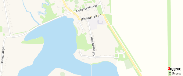 Школьная улица на карте Нового поселка Адыгеи с номерами домов