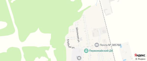 Северная улица на карте Первомайского поселка Адыгеи с номерами домов