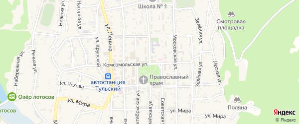 Первомайская улица на карте Тульского поселка Адыгеи с номерами домов